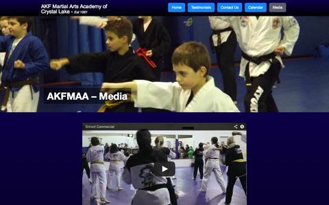 Screenshot of Press Page akf-cl.com - AKF Martial Arts - media - captured Oct. 8, 2014