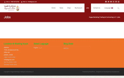 Screenshot of Jobs Page egnaa.com - Jobs – Engaa Markeing Trading & Contracting LLC - captured Sept. 27, 2018