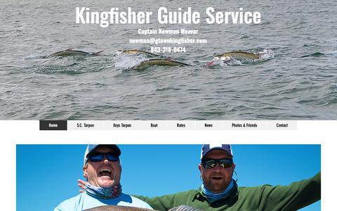 Screenshot of Home Page gtownkingfisher.com - Kingfisher Guide Service, Georgetown SC & Florida Keys - captured Oct. 15, 2018