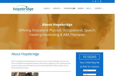 Screenshot of About Page hopebridge.com - About | Hopebridge - captured Dec. 6, 2016