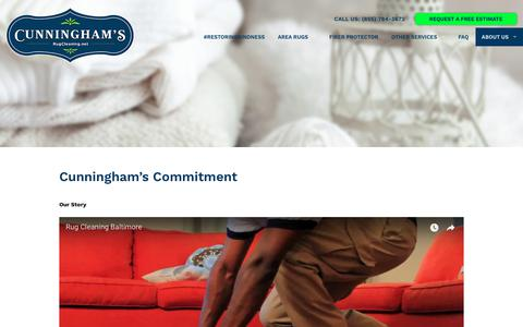 Screenshot of About Page rugcleaning.net - Cunningham Professional Rug Cleaners - captured Sept. 30, 2018