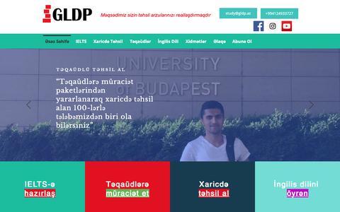 Screenshot of Home Page gldp.az - Home | Global Learning & Development Partners - captured Nov. 10, 2018