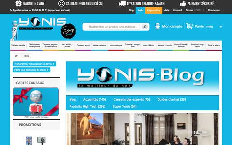 Screenshot of Blog yonis-shop.com - Blog Yonis Shop, guide d'achats, test, jeux concours - Yonis Shop - captured Sept. 1, 2017