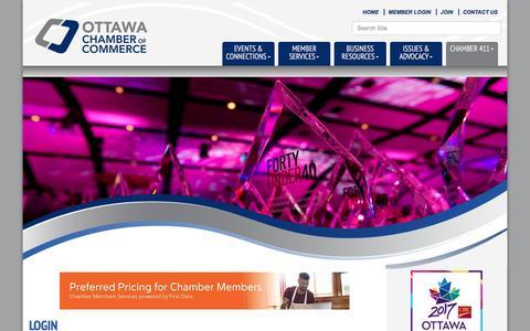 Screenshot of Login Page ottawachamber.ca - Login - Ottawa Chamber of Commerce, ON - captured Dec. 6, 2016