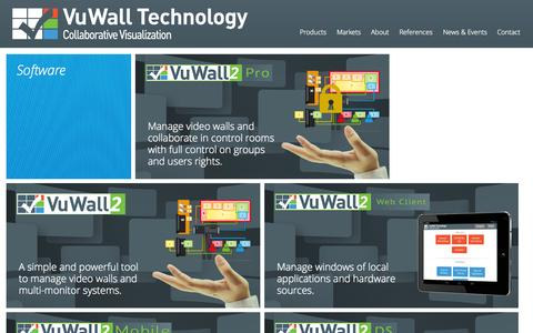 Screenshot of Products Page vuwall.com - Products - VuWall Technology, Inc. - captured Oct. 1, 2014