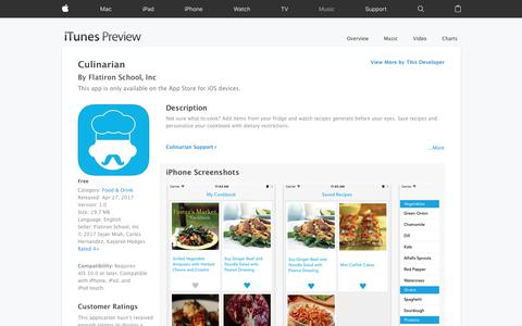 Culinarian on the App Store