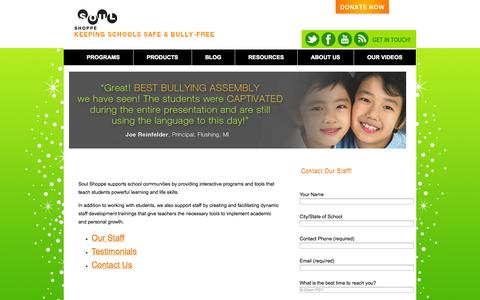 Screenshot of About Page soulshoppe.com - About Us | Soul Shoppe - captured Oct. 7, 2014