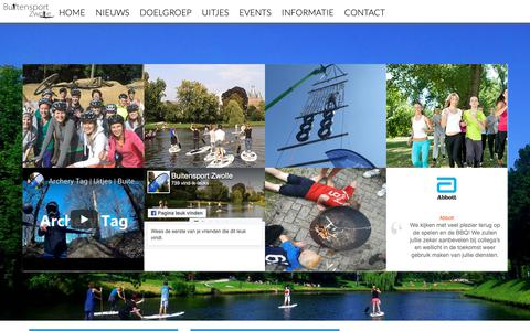 Screenshot of Home Page buitensportzwolle.nl - Buitensport Zwolle - sportieve groepsuitjes, outdoor events en bootcamp Zwolle - captured Dec. 9, 2018