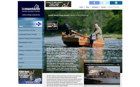 Screenshot of Home Page salmon-fishing-scotland.com - Salmon Fishing Scotland - Guided Fishing with Ghillie Jock Monteith - The Monteith - captured June 20, 2015