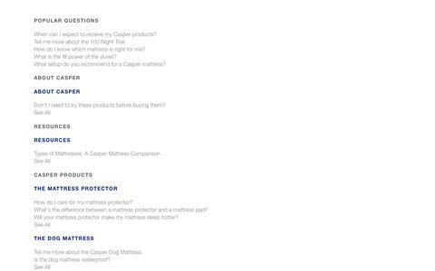 Casper Product & Service FAQ  | Casper®