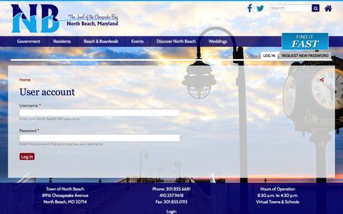 Screenshot of Login Page northbeachmd.org - User account | North Beach MD - captured June 27, 2017