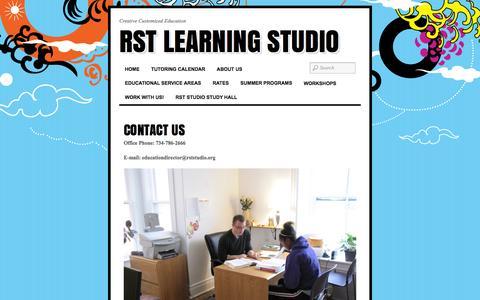 Screenshot of Contact Page raszersharp.org - CONTACT US «  RST Learning Studio - captured Nov. 29, 2016