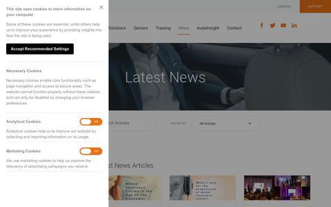 Screenshot of Press Page audatex.co.uk - News | Audatex - captured Oct. 24, 2018