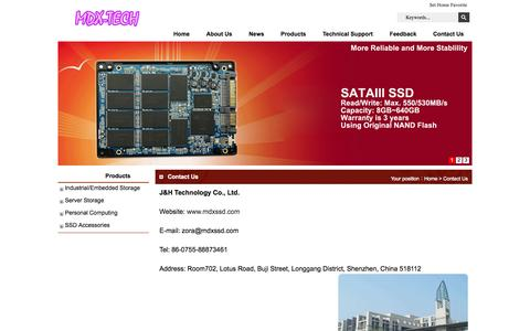 Screenshot of Contact Page mdxssd.com - Contact Us_MDXSSD - captured Oct. 3, 2014