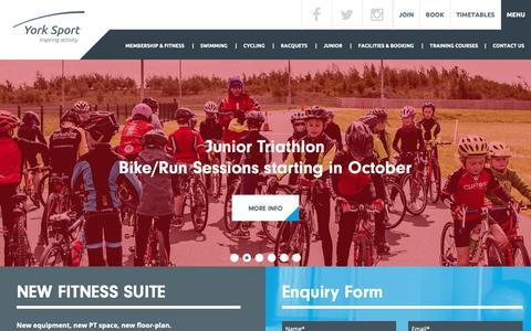 Screenshot of Home Page york-sport.com - Home Page   York Sport - captured Oct. 29, 2018