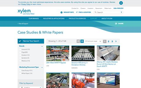 Screenshot of Case Studies Page xylem.com - Case Studies for Water and Wastewater Solutions - Xylem Inc. - United States - captured Sept. 19, 2017
