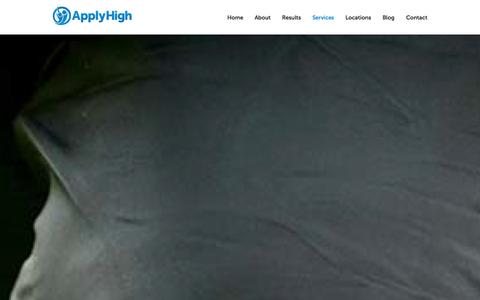 Screenshot of Services Page applyhigh.com - College Admissions Assistance | Apply High Services - captured Sept. 30, 2014