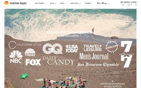 Screenshot of Press Page marinelayer.com - Press Đ Marine Layer - captured Dec. 22, 2015