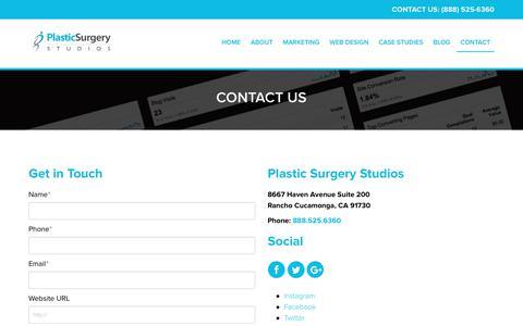 Contact Us   Plastic Surgery Studios