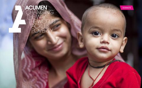 Screenshot of Home Page acumen.org - Acumen is a Bold New Way of Tackling Poverty - captured Feb. 1, 2016