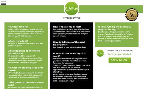 Screenshot of FAQ Page fripura.com - FAQs | Mythbuster | Fripura - captured June 6, 2017