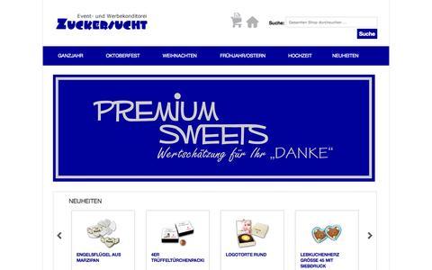 """Screenshot of Home Page ltoc.de - Premium Sweets - Wertschätzung für Ihr """"Danke"""" - captured Oct. 19, 2015"""
