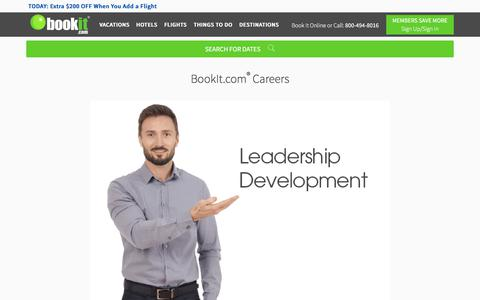 Screenshot of Jobs Page bookit.com - Careers at BookIt.com | BookIt.com - captured July 12, 2018