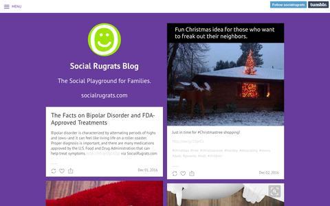 Screenshot of Blog socialrugrats.com - Social Rugrats Blog - captured Dec. 4, 2016