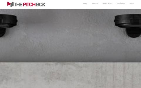 Screenshot of Home Page thepitchbox.com - Home - captured Oct. 7, 2014
