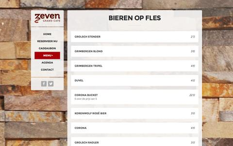 Screenshot of Menu Page grandcafezeven.nl - Grand Cafe Zeven |   DRANKEN - captured Dec. 13, 2015