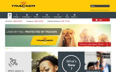 Screenshot of Home Page tracker.co.za - Tracker                                       Home - captured Nov. 1, 2015