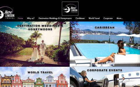 Screenshot of Home Page heretothemoontravel.com - Here To The Moon Travel | Travel Concierge - captured July 19, 2018