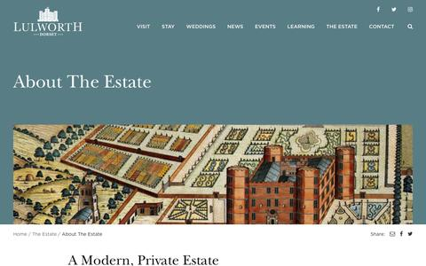 Screenshot of Services Page lulworth.com - About The Estate - Lulworth Estate - captured Feb. 28, 2017