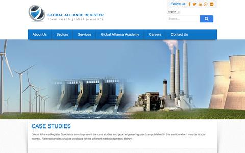 Screenshot of Case Studies Page globalallianceregister.com - Case Studies – Global Alliance Register - captured Nov. 4, 2018