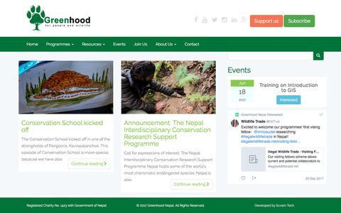 Screenshot of Press Page greenhood.org.np - News – Greenhood Nepal - captured Sept. 22, 2017