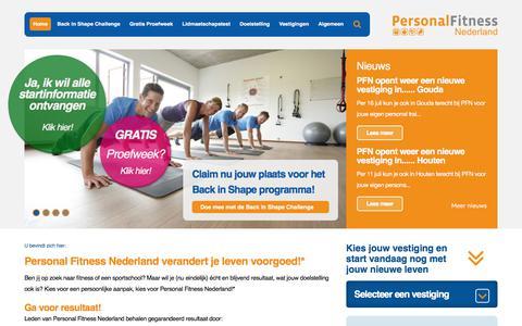 Screenshot of Home Page personalfitnessnederland.nl - Claim nu Jouw Gratis Proefweek Personal Training - captured July 17, 2018