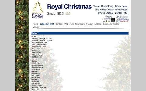 Screenshot of Site Map Page royalchristmas.com captured Oct. 7, 2014