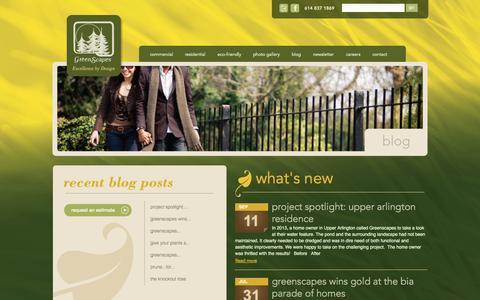 Screenshot of Blog greenscapes.net - | Greenscapes - captured Oct. 3, 2014