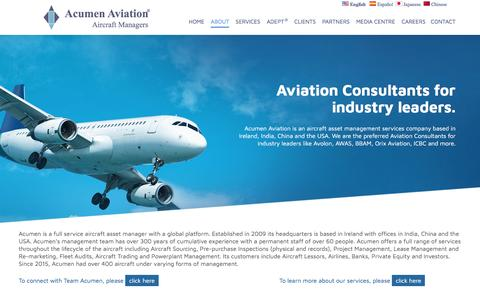 Screenshot of About Page acumenaviation.in - Aviation Consultants Aviation Technical Consultants - captured May 29, 2017