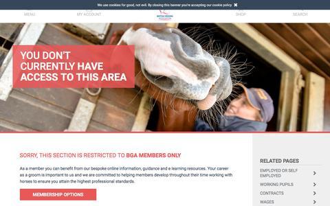 Screenshot of Hours Page britishgrooms.org.uk - British Grooms Associaton: Hours | BGA - captured Feb. 8, 2018