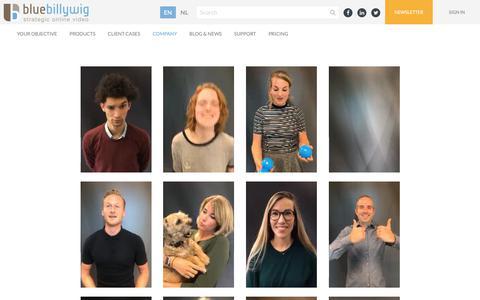 Screenshot of Team Page bluebillywig.com - Team - captured May 9, 2019