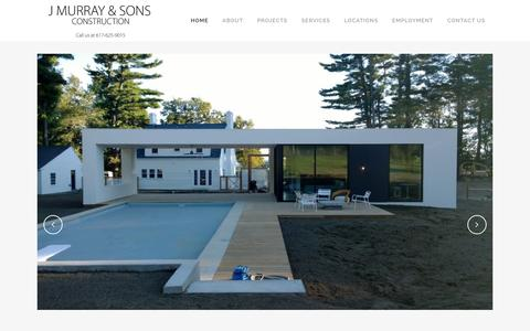 Screenshot of Home Page jmurrayandsons.com - J Murray and Sons Construction | Just another WordPress site - captured Feb. 2, 2016