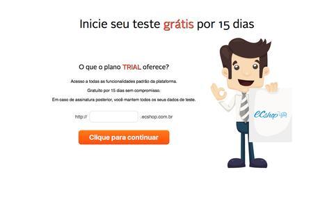 Screenshot of Trial Page ecshop.com.br - Home Page - captured Jan. 29, 2017