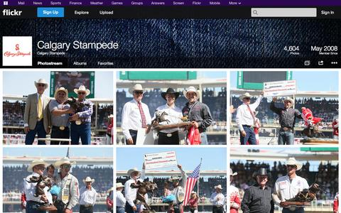 Screenshot of Flickr Page flickr.com - Flickr: Calgary Stampede's Photostream - captured Oct. 26, 2014
