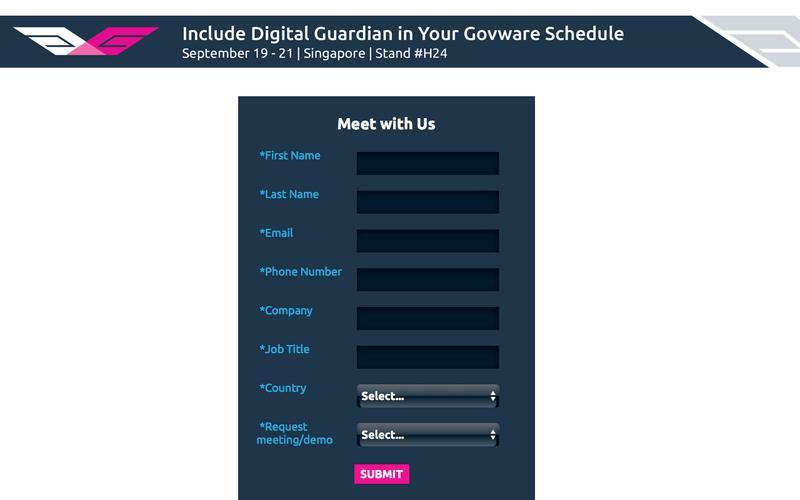 See Digital Guardian at Govware 2017