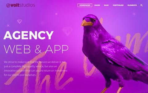 Screenshot of Home Page voltstudios.ca - Volt Studios – GTA Web Design – SEO – Branding – E-commerce services - captured Oct. 22, 2017