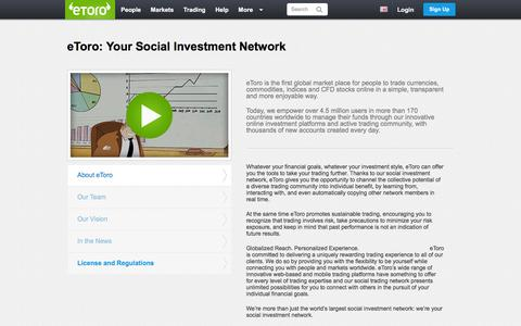 Screenshot of About Page etoro.com - eToro: Your Social Investment Network | eToro - captured June 17, 2016