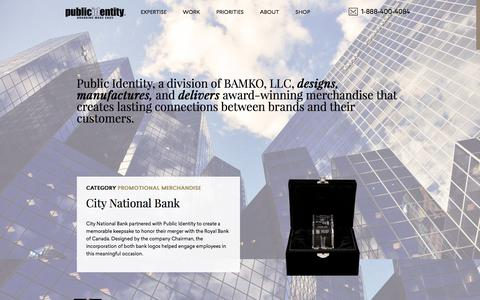 Screenshot of Home Page publicidentity.com - Public Identity - captured Jan. 12, 2018