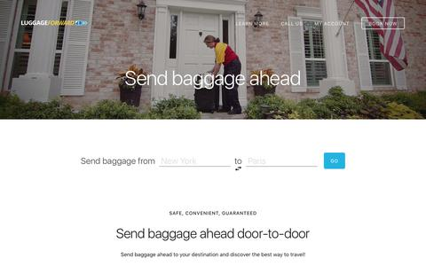 Send Baggage Ahead - Guaranteed by Luggage Forward®