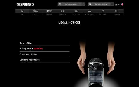 Terms of Use | Privacy Policy | Nespresso USA